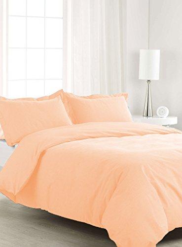 SCALABEDDING 400TC 500% ägyptische Baumwolle, 5teilig Bettwäsche für King/Cal King Size Betten Solide Peach - Cal-king-size-bett Bettwäsche