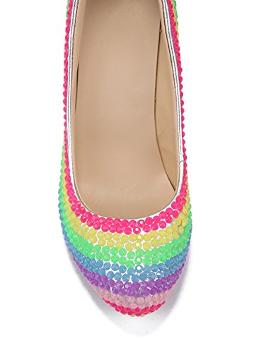 TDA - Sandali con Zeppa donna Multicoloured