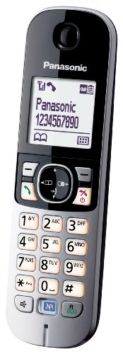 Panasonic KX-TG6821GB DECT-Schnurlostelefon (4,6 cm (1,8 Zoll) Grafik-Display) mit Anrufbeantworter schwarz - 4