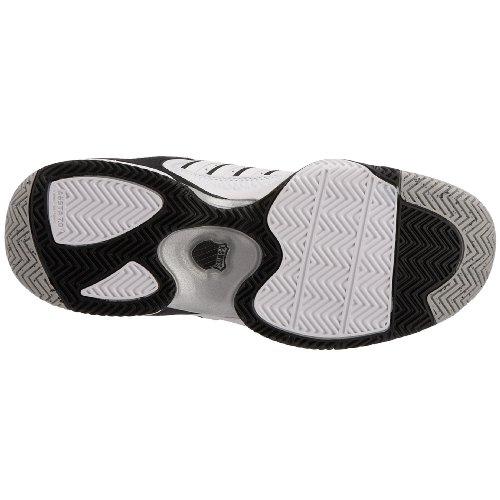 K-Swiss Defier RS, Chaussures tennis terrain dur homme, Blanc/Noir Blanc/Noir
