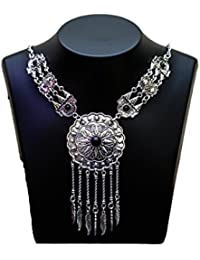 AAKARSHI Oxidised Silver Jewellery Indian Handmade Tribal Statement Necklace