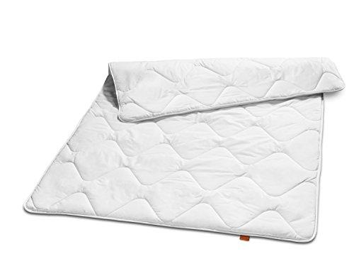 sleepling 190033 Basic 100 Sommer Decke Mikrofaser leicht 135 x 200 cm, weiß 10 Ja-satin