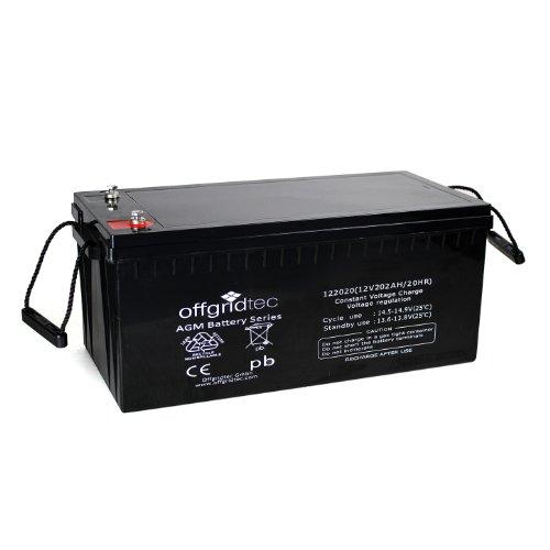 Offgridtec® AGM 202Ah 20HR 12V - Solar Batterie Akku Extrem zyklenfest