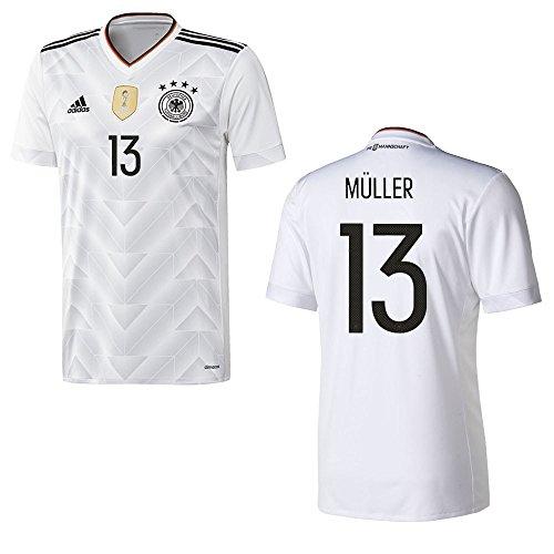 adidas DFB DEUTSCHLAND Trikot Home Herren 2016 / 2017 - MÜLLER 13, Größe:S