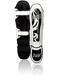 Boxeur Des Rues Fight Activewear Tribus Espinilleras negro negro Talla:Medium