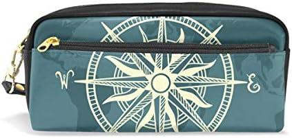 Bonipe rétro Vieux Vieux Vieux Wold Boussole Trousse Pen Box Pochette Sac d'école papeterie Fournitures de voyage Cosmétique Sac de maquillage B07H5GRHB4 | Forme élégante  d48b93