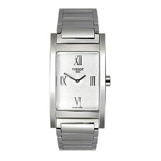 Tissot T0163091103300 – Reloj analógico de mujer de cuarzo con correa de acero inoxidable plateada