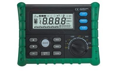 GOWE Circuit Breaker RCD Loop Tester Meter Trip-out Time & Current Voltage Frequency Loop Resistance Measurement (Breaker Circuit Voltage)