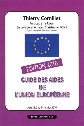 Guide des aides de l'Union européenne 2016