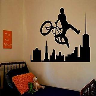 fenshop Abnehmbare erstaunliche Sport Decals Sport Bike BMX Zimmer Schlafzimmer Dekorieren Ideen Aufkleber Wände Kinder Jungen Zimmer Adesiv 57x83cm