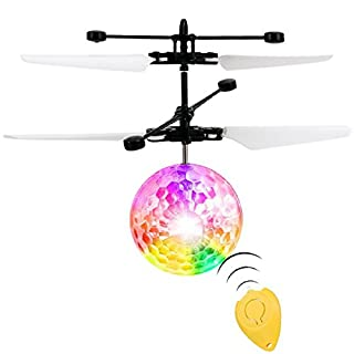 RC Flying Ball, Infrared Induction Helicopter Ball Toy with Colorful LED Lights and Remote Control for Kids Children Teenagers