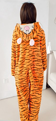 Y-BOA 1Pc Pyjama Combinaison Coton Femme Taille S Forme Tigre Janue