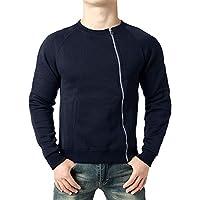 Hanomes Herren Pullover,Mode Herren Herbst Winter Einfarbig Sweatshirt Casual Reißverschluss Pullover Rundhals... preisvergleich bei billige-tabletten.eu