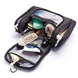Kulturtasche zum Aufhängen, Kulturbeutel, Reise Flaschen für Rasierzeug Kosmetika für Herren und Damen   Wasserdicht Veranstalter für Badezimmer Zubehör, Flüssigkeiten   TSA genehmigt (Schwarz) - 5