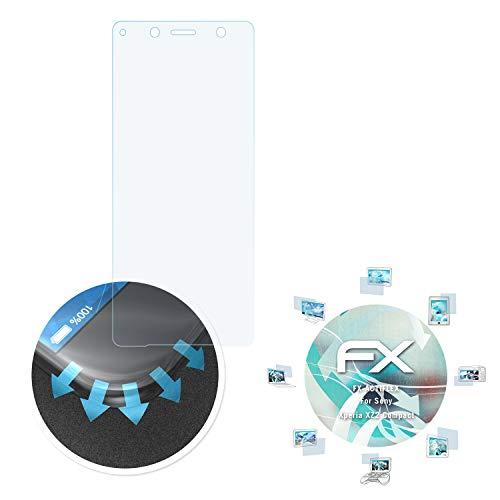 atFolix Schutzfolie kompatibel mit Sony Xperia XZ2 Compact Folie, ultraklare und Flexible FX Displayschutzfolie (3X)