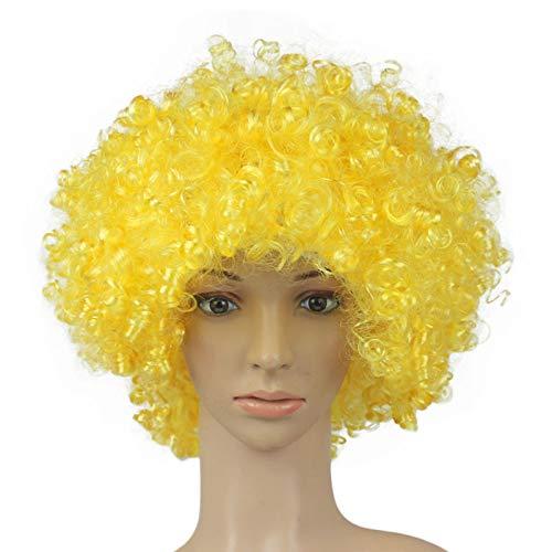 FORHParty Disco Lustige Afro Clown Haar Fußball Fan-Erwachsener Afro Maskerade Haar Perücke