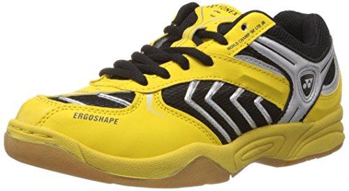 Yonex World Champ 92 LTD JR Badminton Shoes, UK 1 (Yellow/Black/Silver)