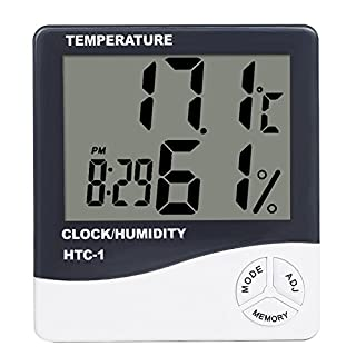 XIYAO Digital Thermometer Hygrometer,Humidity Gauge, Monitor Temperature and Humidity Meter with LCD Screen for Baby Room,Indoor,Outdoor(Without cable)