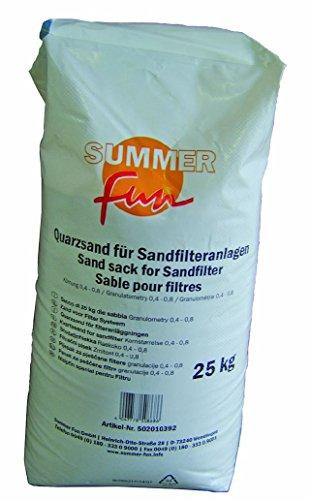 Filtersand Körnung von 0.4-0.8mm Poolfilter Quarzsand für Sandfilteranlage