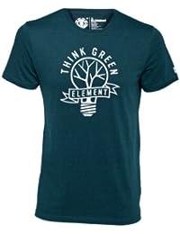 Element T-shirt pour homme Think Green Manches courtes Vert