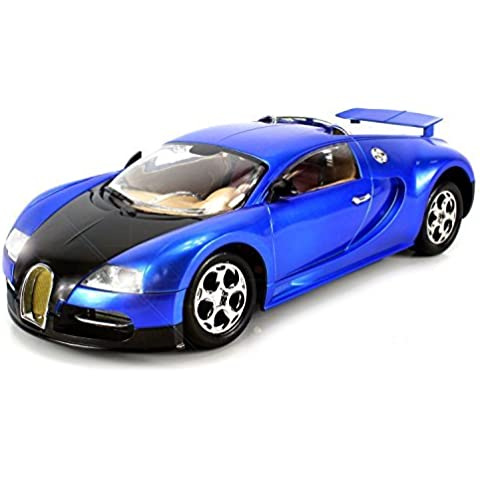 Super Sport Bugatti Veyron Remote Control Car Big Size 1:14 Scale Ready To Run RTR w/ Working Headlights (Colors May Vary) by Velocity Toys