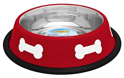 Westminster Pet Prodotti Ciotola in Acciaio, 16oz, Colore: Rosso