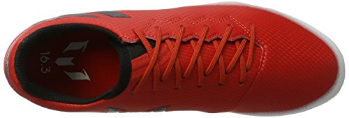adidas Messi 16.3 Ag, Chaussures de Football Mixte Enfant Rouge (Red/core Black/footwear White)