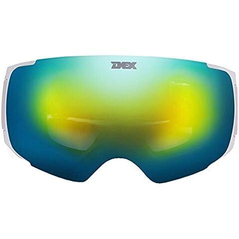 Coface professionale sferica doppia lente staccabile Anti-fog possono indossare Miope Sci Snowboard Occhiali