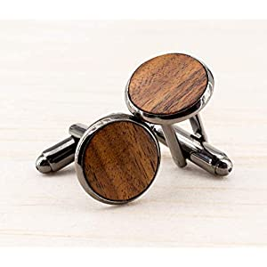 Dunkelbraune Manschettenknöpfe Herren Schmuck zur rustikalen Landhochzeit Geschenk für Männer Palisander Holz…
