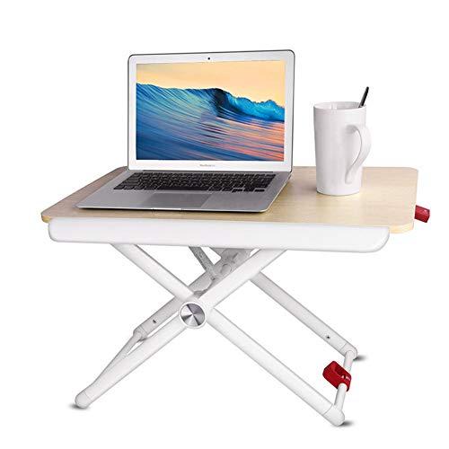 PEIQI HOME Sit-Stand Workstation, Sitz-Steh-Schreibtisch Aufsatz 5 Ebenen höhenverstellbarer...
