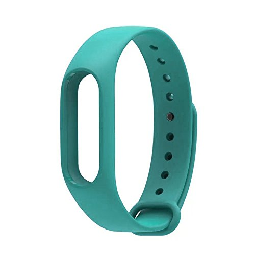 Wrist Strap Band Belt Wristband Silicone Wearable Case Cover For Xiaomi Mi Band 2 - Cyan (Not For Mi Band 1)  available at amazon for Rs.199