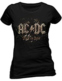CID Women's AC/DC-Rock Or Bust T-Shirt