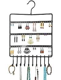 Zollyss Jewellery Display Stand Organizer for Earrings Necklace Bracelet Holder Hanger(27x38CM)- Random Color