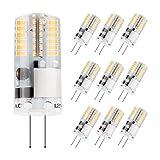 DiCUNO 10-Pack G4 3W LED Lampadina, 250LM, Lampadine AC/DC 12V SMD Equivalente a 30 W alogena, bianco caldo 3000K, Non dimmerabile, Ricambio per Illuminazione da cucina, Luci di segnalazione