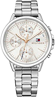Tommy Hilfiger Womens Quartz Watch, Chronograph Display and Stainless Steel Strap 1781787