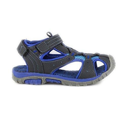 Demo-DemoMax Max Jungen Sandale geschlossen Klettverschluss blau Blau
