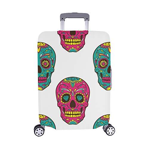 (Nur abdecken) Day Dead Bunte Sugar Skull Nahtlose Muster Staubschutz Trolley Protector case Reisegepäck Beschützer Koffer Abdeckung 28,5 X 20,5 Zoll