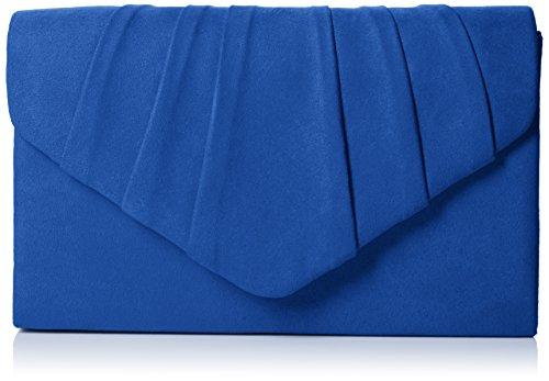 Swankyswans Damen Iggy Suede Velvet Envelope Party Prom Clutch Bag Tasche, Blau (Royal Blue 03), One Size (Velvet Purse Clutch)