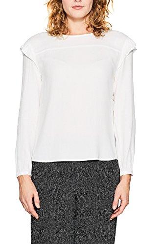 ESPRIT Damen Bluse 018EE1F003, Weiß (Off White 110), 38