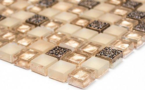 Lampada a mosaico mosaico piastrelle di rete parete uni oro