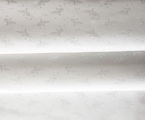 Korsett Mieder Stoff Coutil Floral Brocade aus Cotton / Viscose, Weiß, Meterware, sehr festes Mischgewebe, mit attraktiven Glanz ideal für die Korsettherstellung - Weiß Floral Korsett