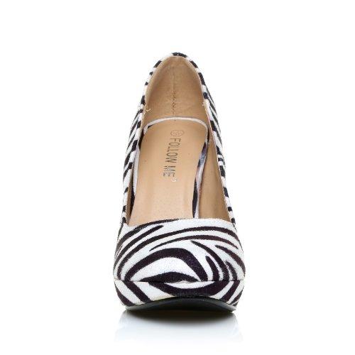 ShuWish UK , Damen Pumps Mehrfarbig Zebra Print Zebra Print