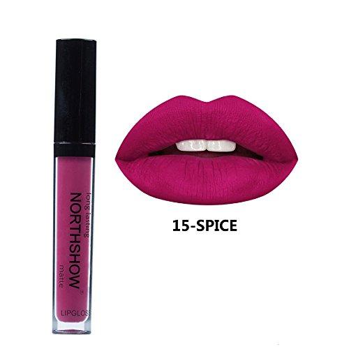 Yogogo - NORTHSHOW Rouge à LèVres Liquide CrèMe Hydratante Velours Rouge à LèVres CosméTique Beauté Maquillage (O)