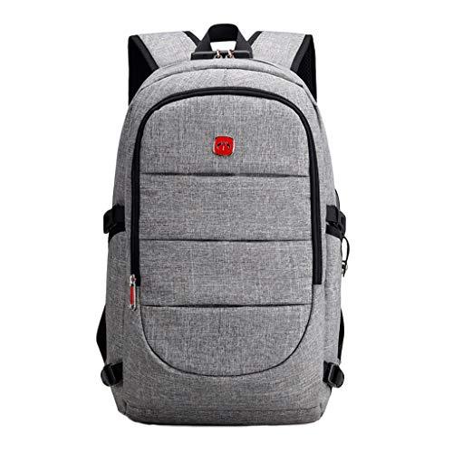 HSKB Damen Handtasche Leichter Rucksack, Unisex Outdoor Trekkingrucksack Wanderrucksack Wasserdicht Rucksack Daypack (Grau) -