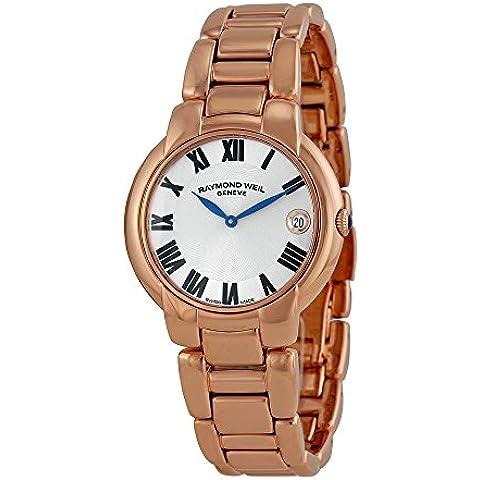 Raymond Weil 5235-P5-01659 - Reloj para mujeres, correa de acero inoxidable color oro rosa