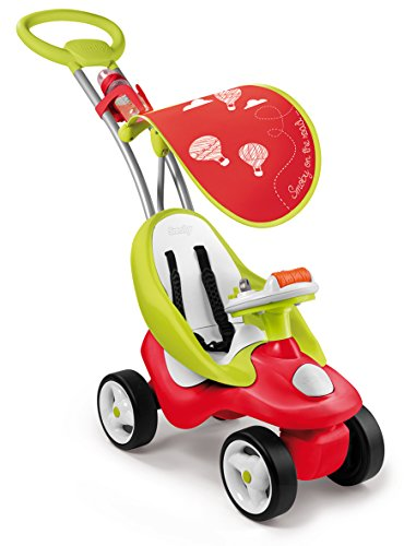Smoby Toys, 720103, Porteur Enfant Evolutif 2 en 1 Bubble Go avec Roues Silencieuses, Rouge