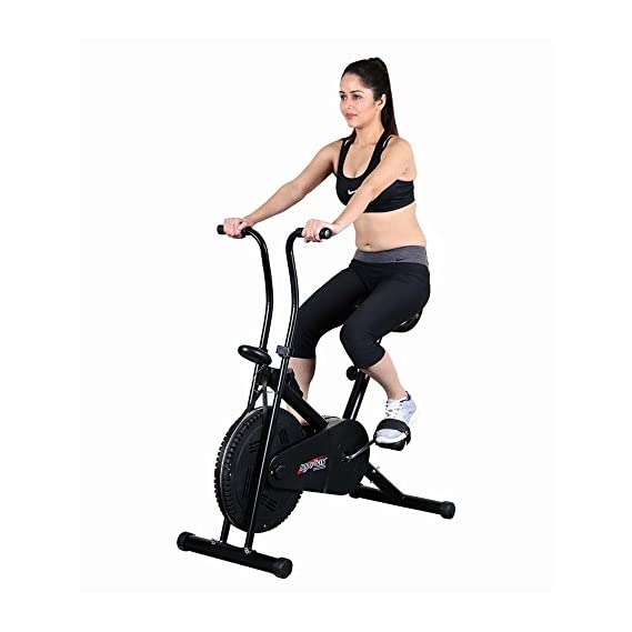 KS HEALTHCARE Air Bike|Body Gym Cycle| Deluxe Design Lifeline | Cross fit Equipment| Dual Action Back Support (BGA-1001, Silver)