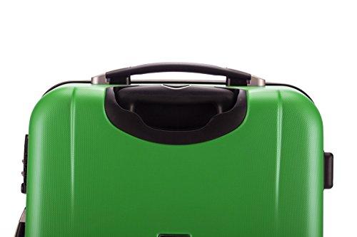 HAUPTSTADTKOFFER® 67 Liter (ca. 65 x 43 x 26 cm) · Hartschalenkoffer · Modell: HK-1209 · TSA Schloss · Farbe: MATT (in 5 Farben) (Burgund) Apfelgrün