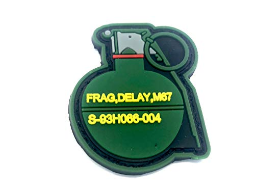 Frag Granate Airsoft Klettverschluss PVC Flicken Patch