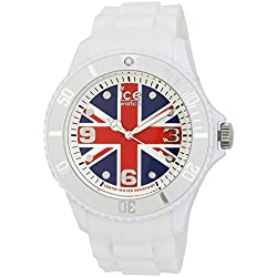 Ice-Watch Big Quartz Watch with Multicolour Dial Analogue Display and White Silicone Strap WO.UK.B.S.12